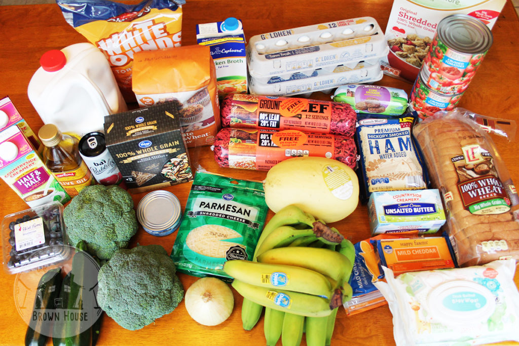 Budget Grocery Shopping • Our Brown House • $56 11 for one week